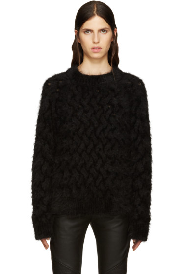 Balmain - Black Angora Sweater