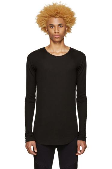 Balmain - Black Ribbed T-Shirt