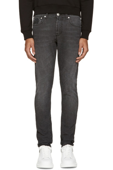 Alexander McQueen - Black Faded Jeans
