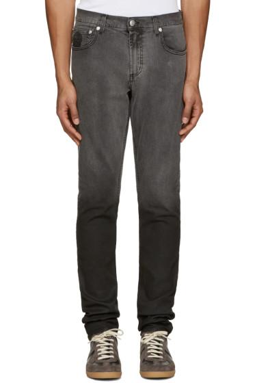 Alexander McQueen - Black Dip Dyed Jeans