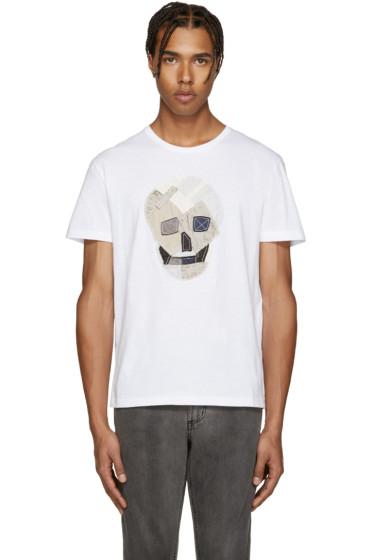 Alexander McQueen - White Patchwork Skull T-Shirt