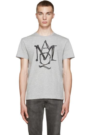 Alexander McQueen - Grey Logo T-Shirt