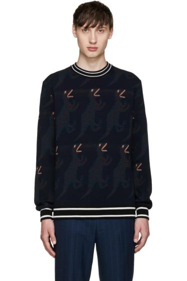 Paul Smith - Navy Dinosaur Sweater