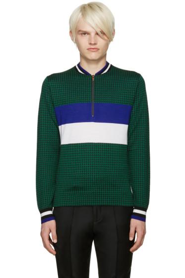 Paul Smith - Green Merino Houndstooth Sweater