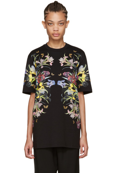Givenchy - Black Paradise Flowers T-Shirt