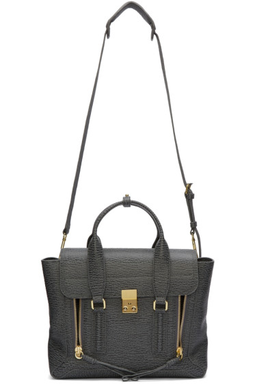 3.1 Phillip Lim - Grey Medium Pashli Satchel