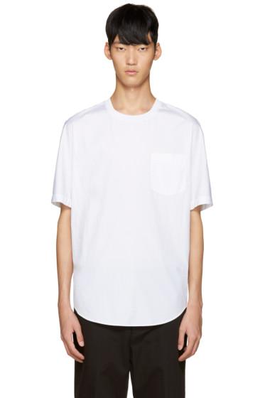 3.1 Phillip Lim - White Poplin T-Shirt