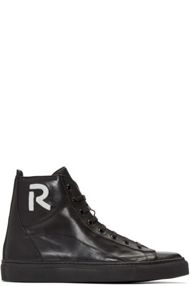 Raf Simons - Black 'R' High-Top Sneakers