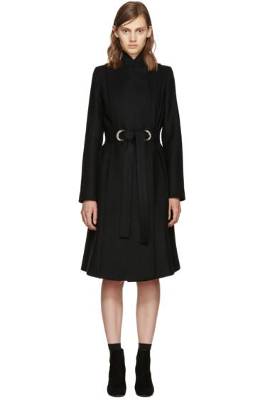 Proenza Schouler - Black Wool Belted Coat
