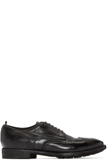 Officine Creative - Black Princeton Oxfords