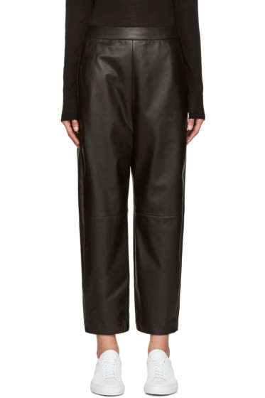 Neil Barrett - Black Lambskin Trousers