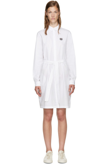 Kenzo - White Poplin Belted Dress