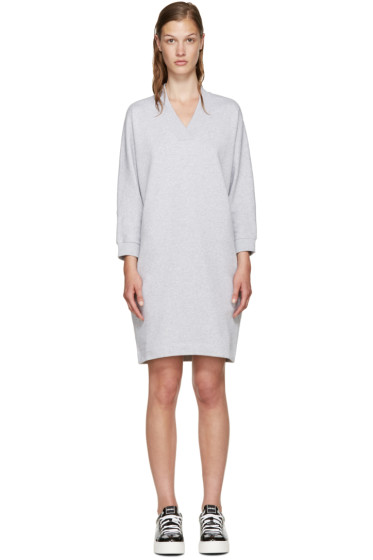 Kenzo - Grey Knit Logo Dress
