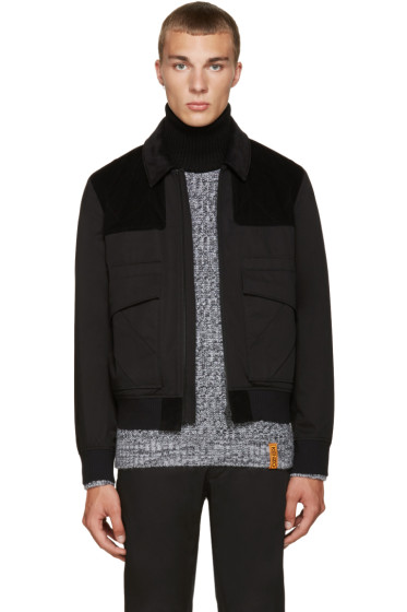 Kenzo - Black Twill & Corduroy Jacket