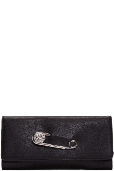 Versus - Black Leather Pin Clutch