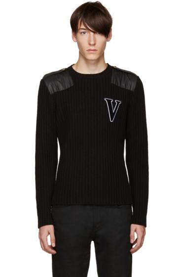 Versus - Black Wool 'V' Sweater