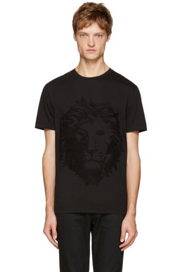 Versus - Black Embroidered Lion T-Shirt