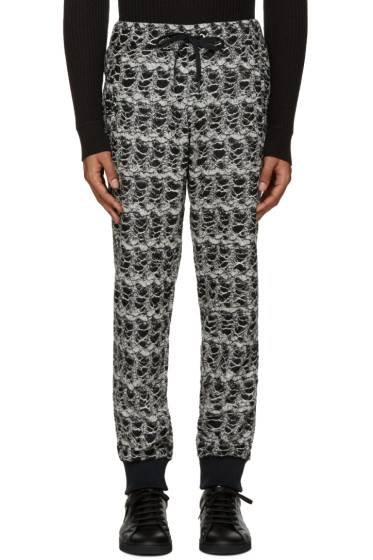 Versace - Black & White Textured Lounge Pants