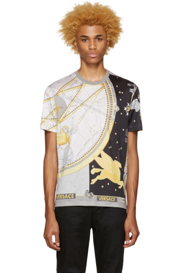 Versace - Grey Silk Space T-Shirt