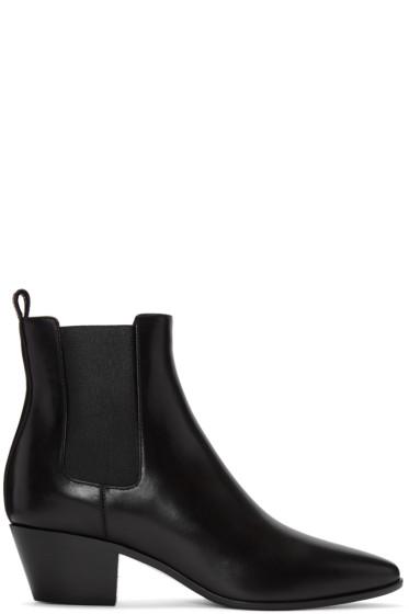 Saint Laurent - Black Leather Rock Boots