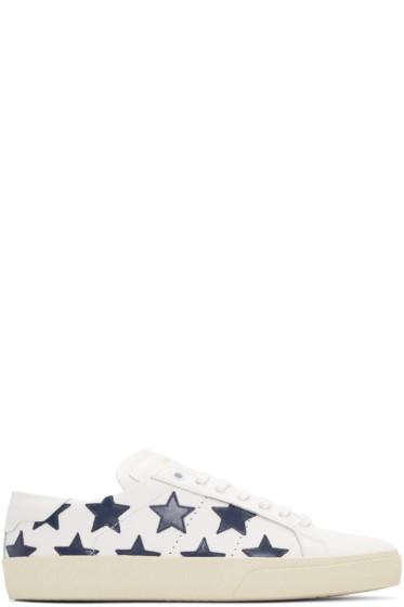 Saint Laurent - White Stars Court Classic Sneakers