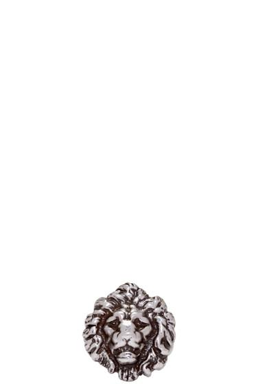 Saint Laurent - Silver Lion Head Ring