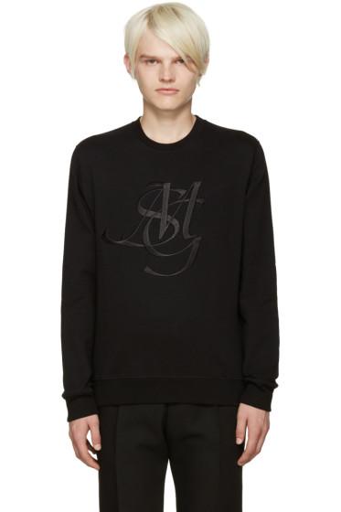 MSGM - Black Monogram Sweatshirt