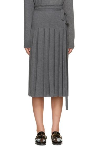 Stella McCartney - Grey Knit Pleated Skirt