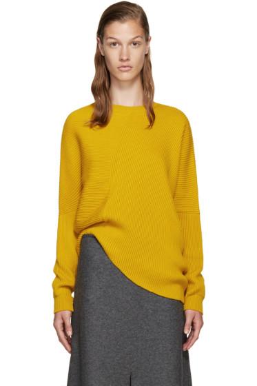Stella McCartney - Yellow Ribbed Wool Sweater