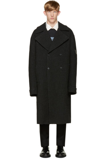 Yang Li - Grey Wool DBF Big Coat
