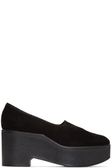 Robert Clergerie - Black Suede Xalo Loafers