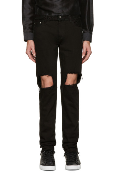 Christian Dada - Black Distressed Skinny Jeans