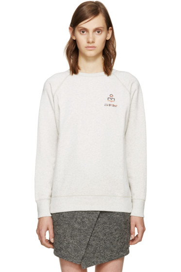 Isabel Marant Etoile - Ecru Logo Billy Sweatshirt