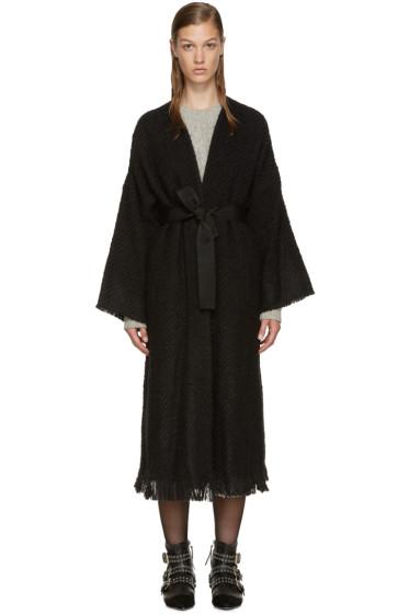 Isabel Marant - Black Tweed Iban Coat