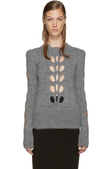 Isabel Marant - Grey Cut-Out Ilia Sweater