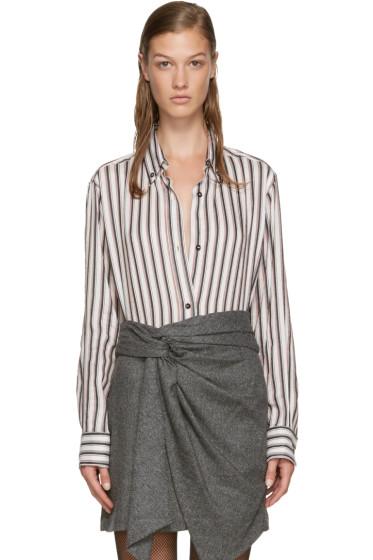 Isabel Marant - White Striped Manray Shirt