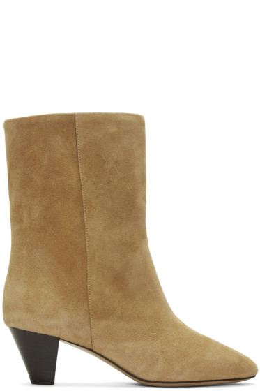 Isabel Marant - Beige Suede Dyna Boots