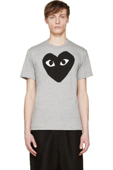 Comme des Garçons Play - Heather & Black Heart Logo T-Shirt
