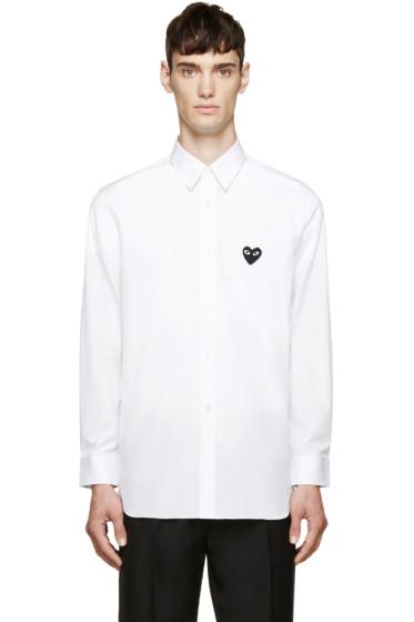 Comme des Garçons Play - White Heart Patch Shirt