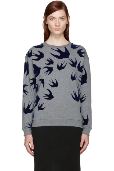 McQ Alexander Mcqueen - Grey Swallows Pullover