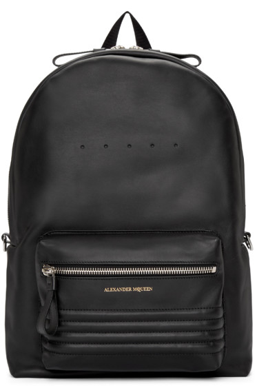 Alexander McQueen - Black Leather Studded Backpack