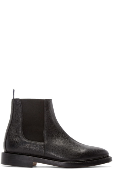 Thom Browne - Black Leather Chelsea Boots