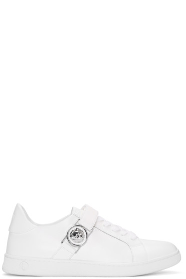 Versus - White Lion Medallion Sneakers