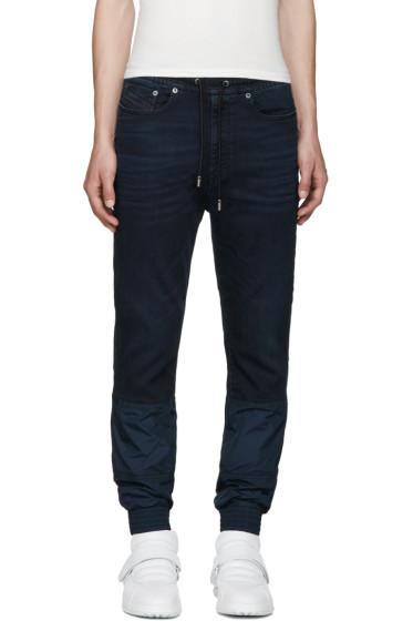 Diesel Black Gold - Blue Stretch-Denim Jeans