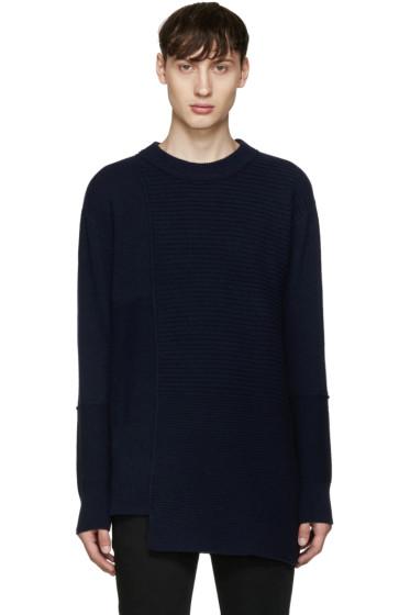 Diesel Black Gold - Navy Asymmetric Collage Sweater