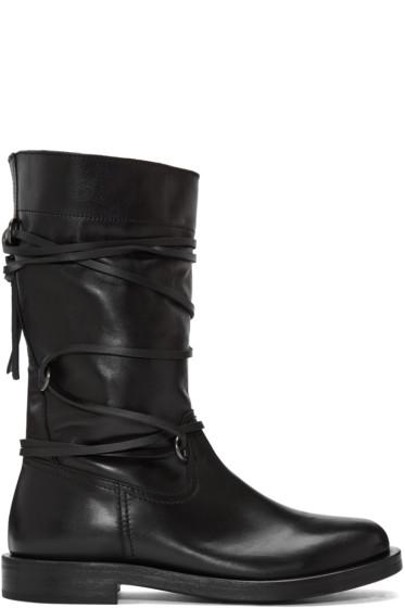 Diesel Black Gold - Black Lace Around Boots