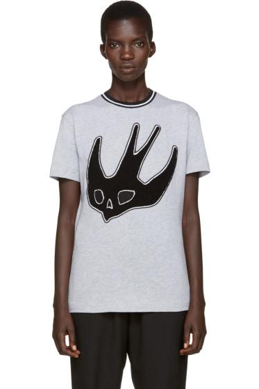 McQ Alexander Mcqueen - Grey Varsity T-Shirt