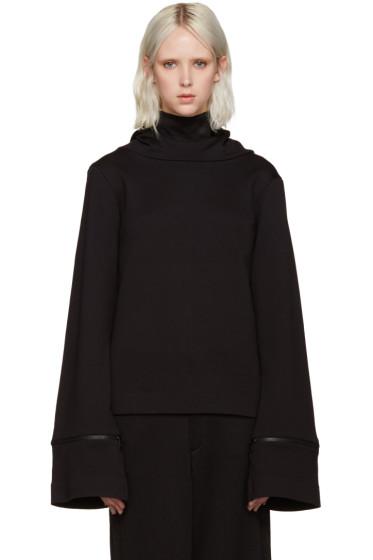 Y-3 - Black Flared Sleeve Hoodie