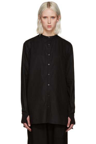 Y-3 - Black Button Shirt