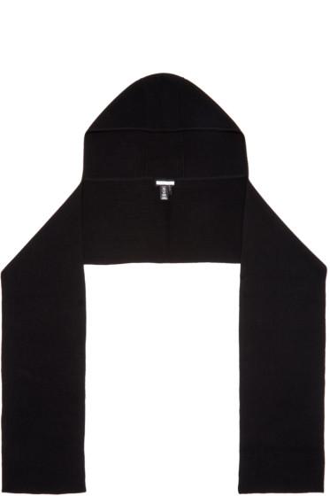 Helmut Lang - Black Hooded Scarf
